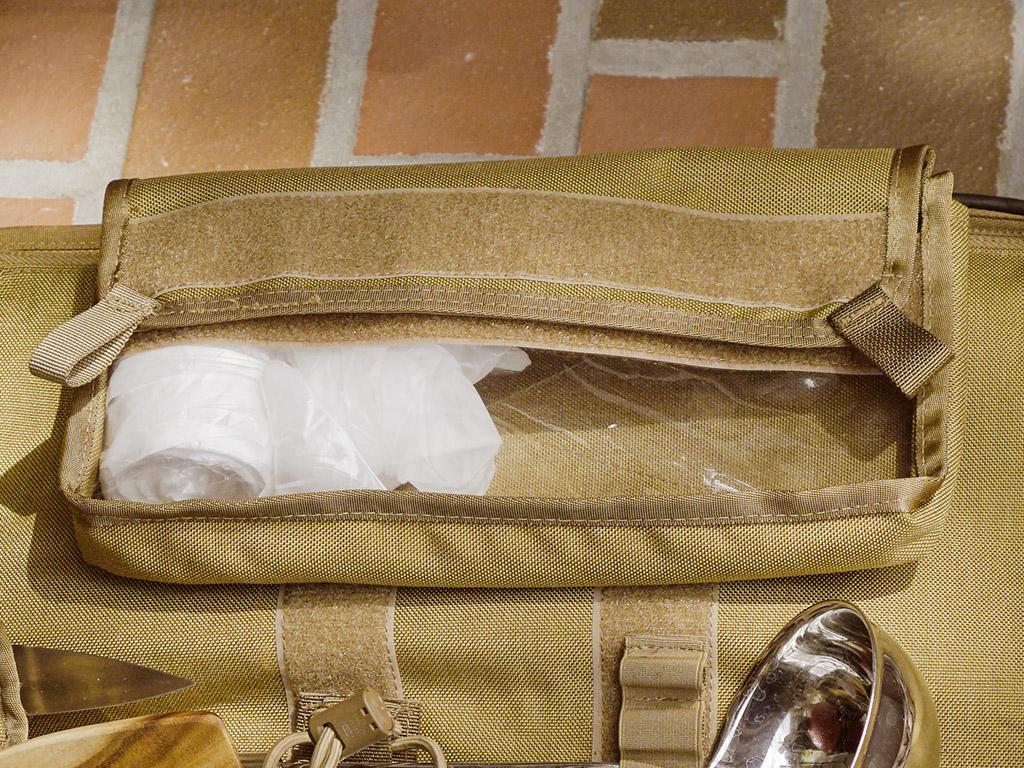 Velcro Clutch Bag, grünbraun